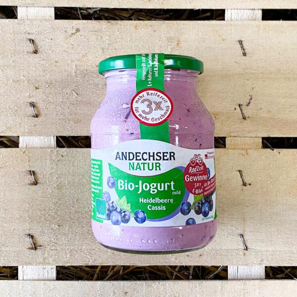 Bio Jogurt Heidelbeere Cassis