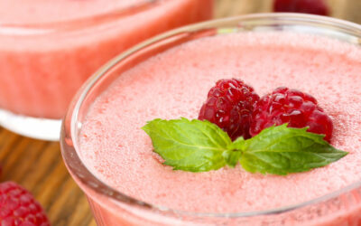 Prosecco-Himbeer-Mousse
